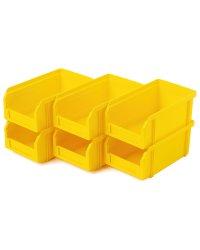 Пластиковый ящик Стелла-техник V-1-К6-желтый , 172х102х75мм, комплект 6 штук