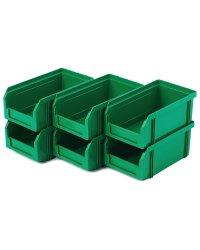 Пластиковый ящик Стелла-техник V-1-К6-зеленый , 172х102х75мм, комплект 6 штук