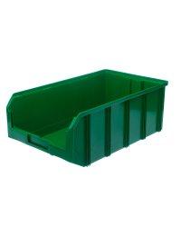 Пластиковый ящик Стелла-техник V-4-зеленый 502х305х184мм, 20 литров