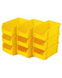 Пластиковый ящик Стелла-техник V-1-К9-желтый , 172х102х75мм, комплект 9 штук