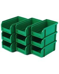 Пластиковый ящик Стелла-техник V-1-К9-зеленый , 172х102х75мм, комплект 9 штук