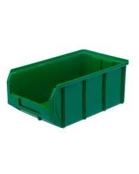 Пластиковый ящик Стелла-техник V-3-зеленый 342х207x143мм, 9,4 литра
