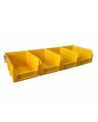 Органайзер настенный Стелла-техник V-2-650-желтый , 4 ящика V-2