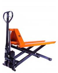 Тележка гидравлическая с ножничным подъемом TOR 1,0 т JF 1000 (полиуретан.колеса)