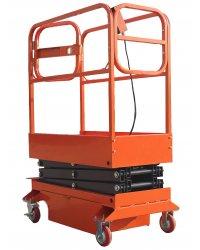 Подъемник ножничный передвижной полуэлектрический TOR GTJY 240 кг 4 м (автономный)